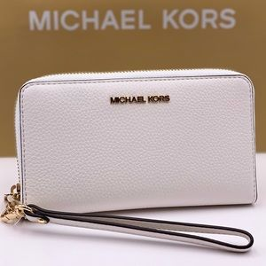 Michael Kors Phone Wallet Wristlet Optic White